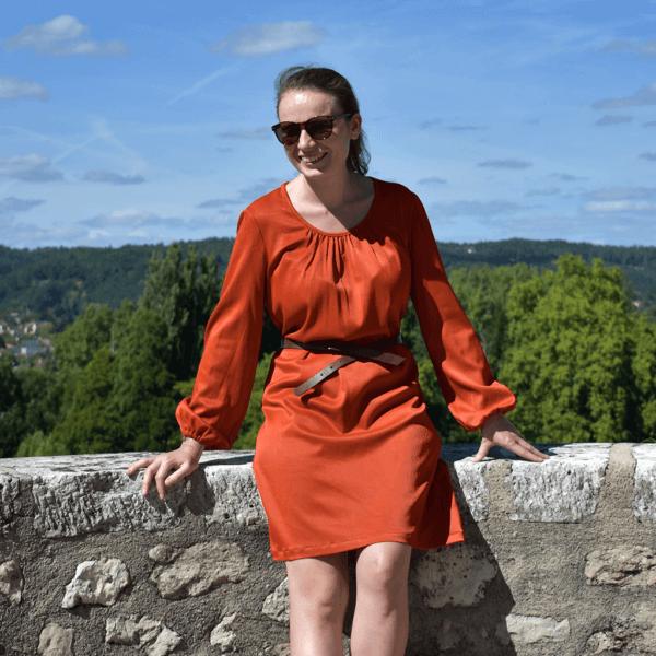 Robe Valentine orange